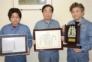 画像:「造形品の部」で金賞を受賞した「東京スカイツリー」