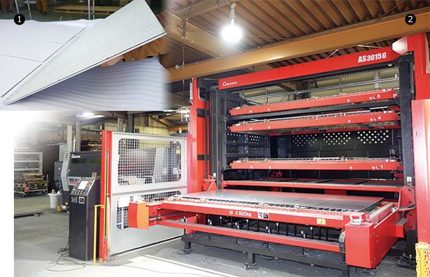 画像:加工領域が広いENSIS-3015AJで生産性向上