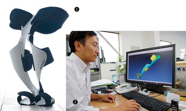 画像:医工連携で医療現場向けウェアラブルチェアを開発