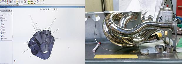 画像:450点の金属片を溶接して製作
