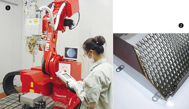 画像:ビーム制御技術で難易度の高い溶接にチャレンジ