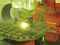 画像:建築金物の溶接にファイバーレーザ溶接を活用