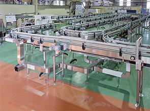 画像:飲料生産ライン向けコンベヤシステムの総合メーカー