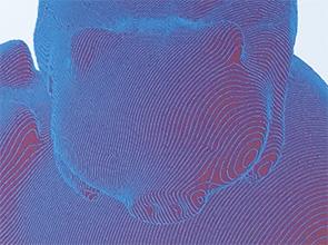 画像:CAD技術を駆使した529枚の部品からなる積層構造