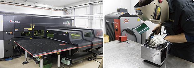 画像:ENSIS-3015RIで厚板とパイプ・形鋼を内製化