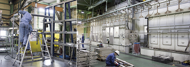 画像:日中は形鋼加工、夜間は平板のスケジュール加工