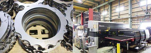 画像:ファイバーレーザ複合マシン、ファイバーレーザマシンを相次ぎ導入