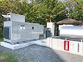 画像:BCP対応で自家発電装置を設置