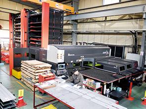 画像:薄板コイルセンターと板金加工のシナジー創出を目指す