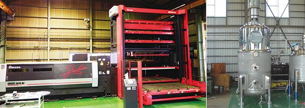 画像:第一種圧力容器製造の認可を持つ高い技術力