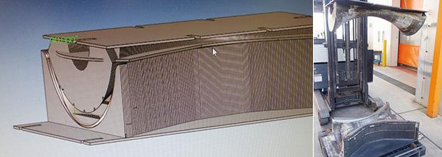 画像:全体がR面の塊 ― 総型を積層金型で製作